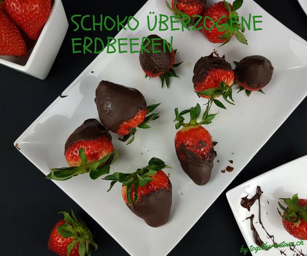 Erdbeeren überzogen mit Schokolade