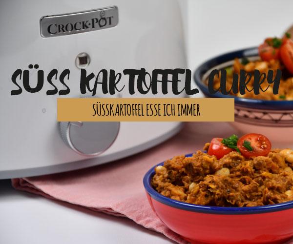 Süsskartoffel Curry aus dem Crock Pot