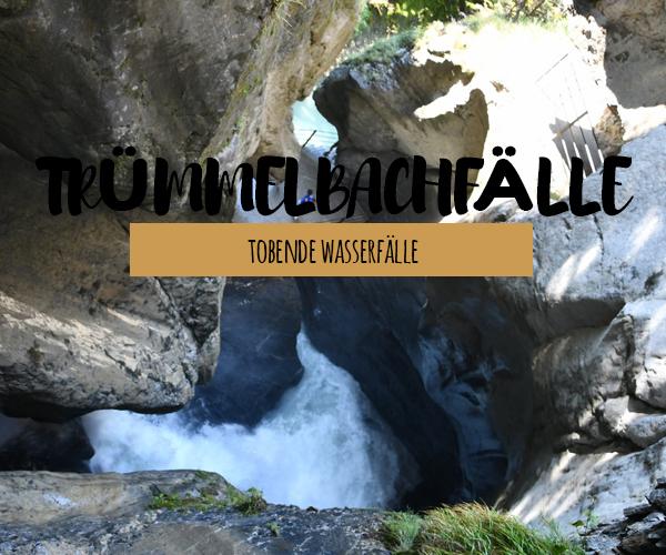 Tobende Wasserfälle – Trümmelbachfälle im Lauterbrunnental