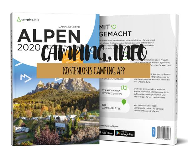 Kostenlose Camping App für alle Wohnmobilisten