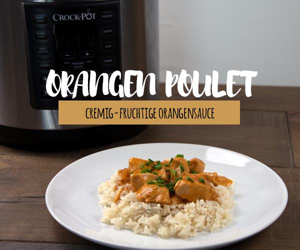 Orangen Poulet aus dem Crock-Pot